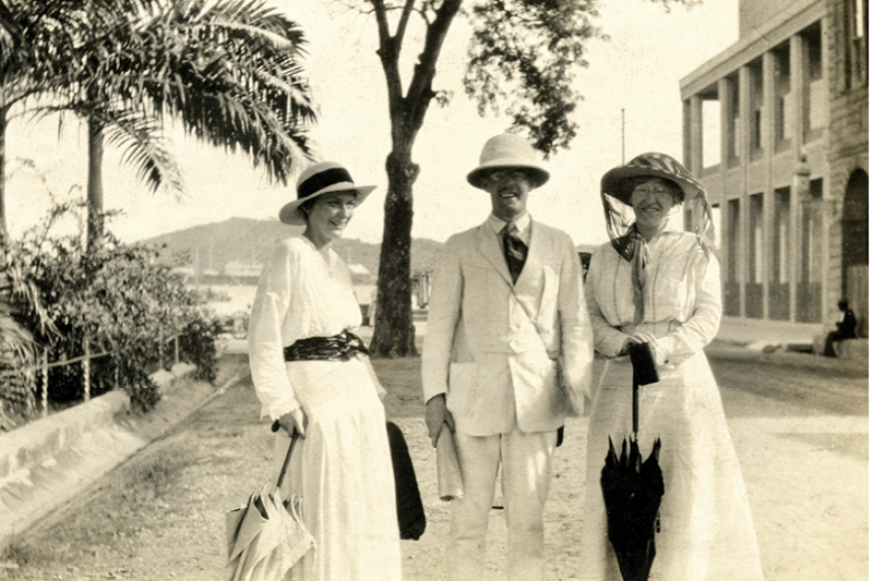 Beebe and Taylor (right) with an unidentified woman