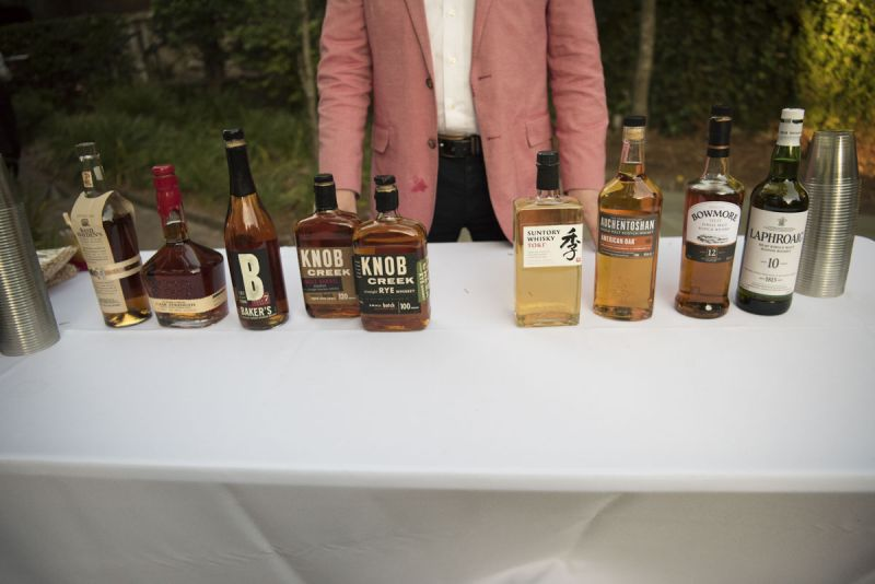 A wide selection of fine bourbon was flowing all evening long.
