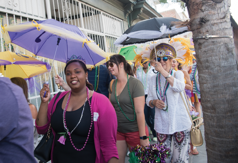 Participants marched through downtown streets, attracting much attention from passerbys.