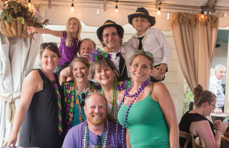 Event founder Rick Tringali (back right) with his family
