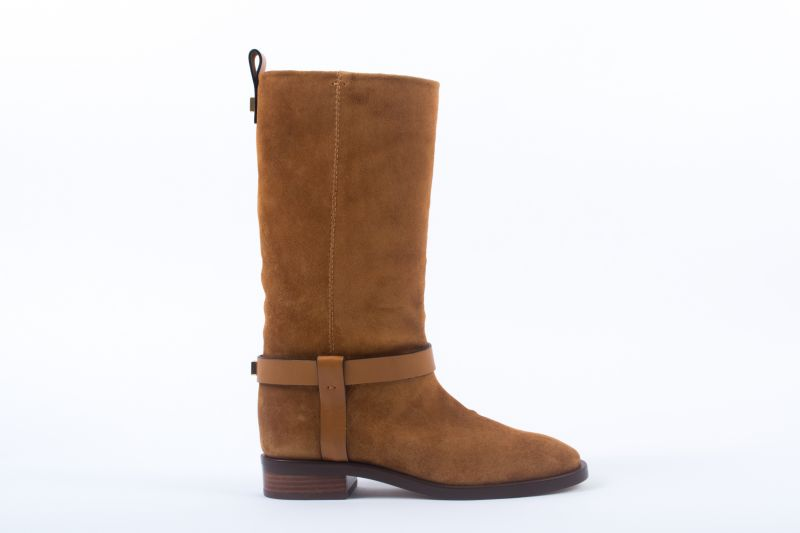 """Stuart Weitzman """"The Casey"""" boot in bridle ansonia, $698 at Shoes on King"""