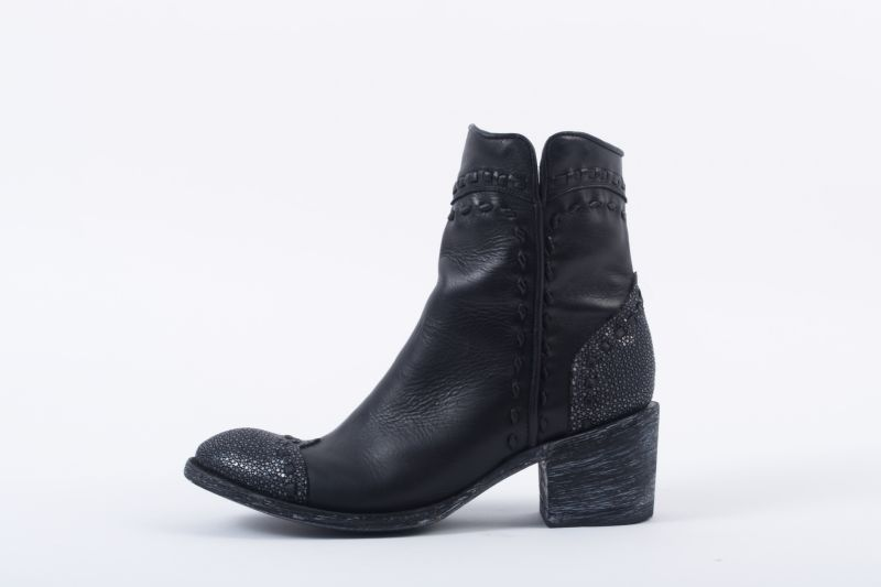 """""""Crither Toe"""" boot in """"black stingray,"""" $580 at Out of Hand"""