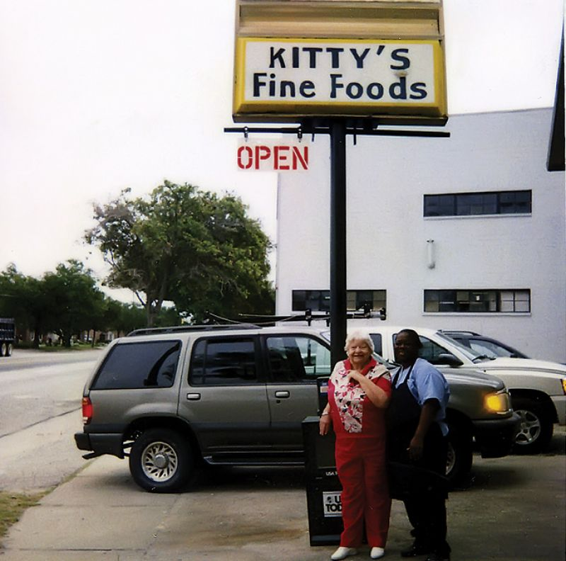 "Miss Kitty with Martha Grant in the 1990s; Grant later acquired Miss Kitty's and paid homage to its 40-year-old heritage by renaming it ""Kitty's Diner."""