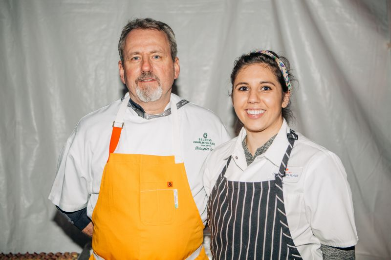 Belmond Charleston Place executive pastry chef Chris Ryan with Paige Sylvestre