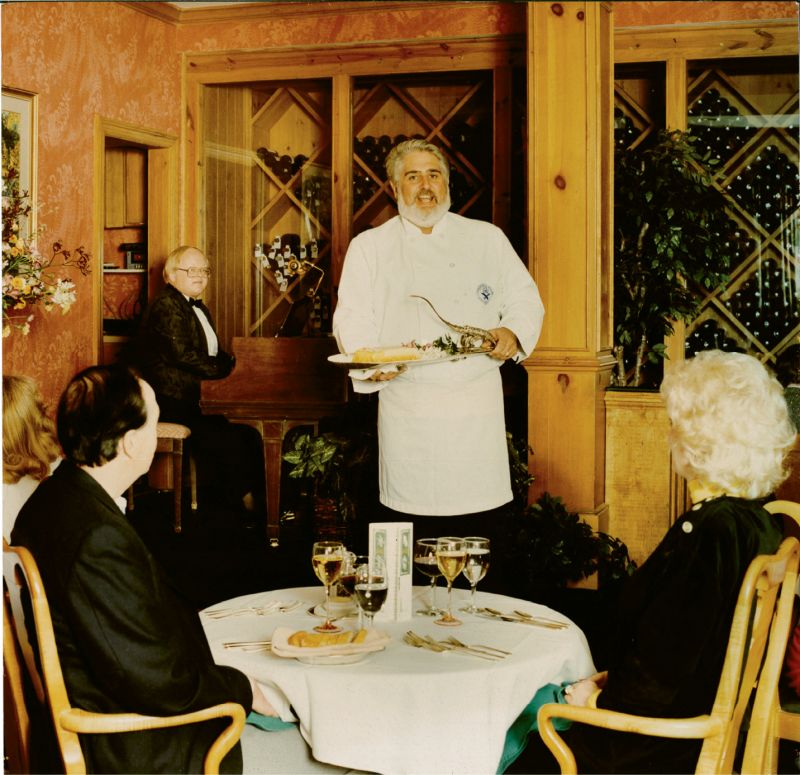 "At Robert's of Charleston, ""Singing Chef"" Robert Dickson combined two of his considerable talents: operatic singing and haute cuisine."