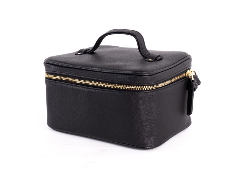 "HUDSON+BLEEKER ""Jetsetter"" train case in black, $58 at Bits of Lace"