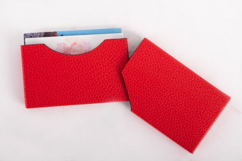 """Roma"" card holder in red, $39 at Gwynn's of Mount Pleasant"