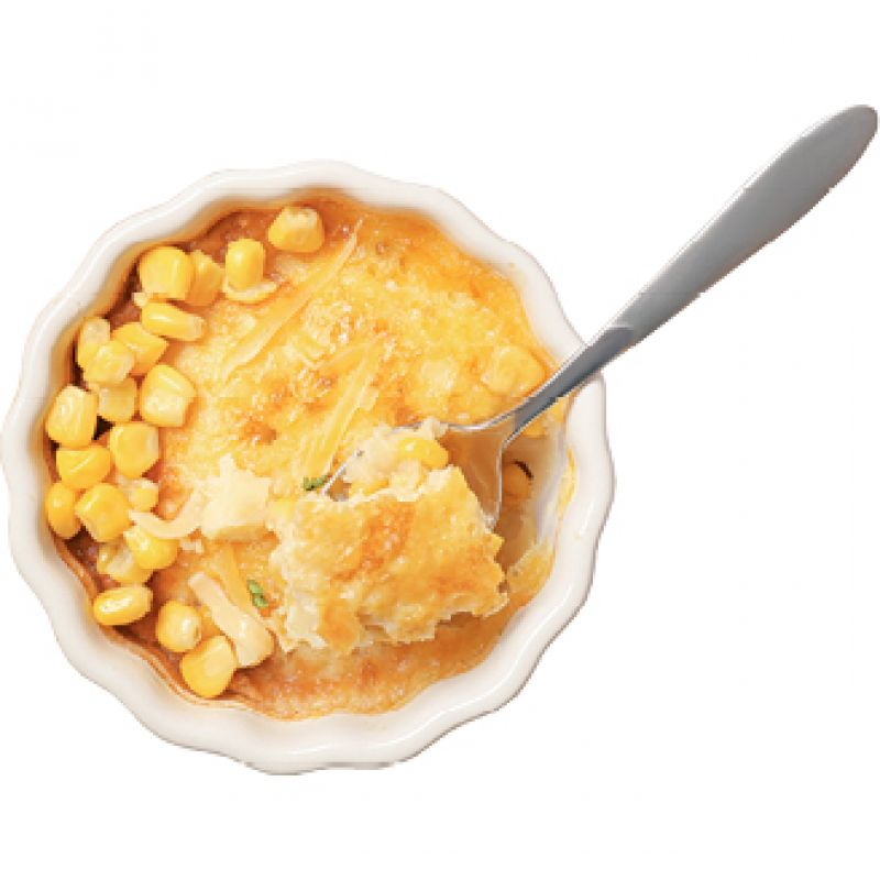 "Happy Holidays: ""My grandmother made a corn pudding-type dish we called scalloped corn with crushed Ritz crackers. It's on every holiday table."""