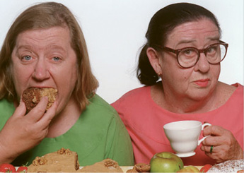 "Screen Time:  ""When I'm feeling under the weather, I'll binge-watch the British cooking show Two Fat Ladies."""